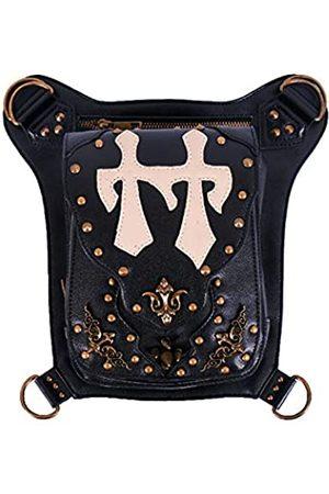 Blackmasksu Damen Bauchtaschen - Gürteltasche Halloween Steampunk Retro Motorradtasche Lady Bag Retro Rock Gothic Gothic Schulterpacks