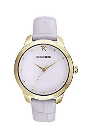 Trendy Kiss Damen Analog Quarz Uhr mit Leder Armband TG10140-04