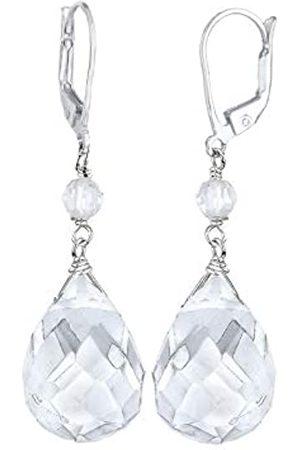 Elli Ohrringe Damen Tropfen Elegant Festlich mit Bergkristall in 925 Sterling Silber