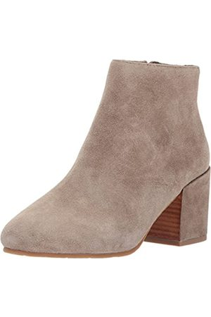 Gentle Souls By Kenneth Cole Women's Blaise Ankle Bootie with Side Zip, Covered Block Heel Suede Ankle Bootie, sage
