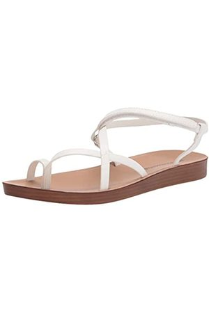 Amazon Women's Strappy Footbed sandals, (Weißes Polyurethan.)