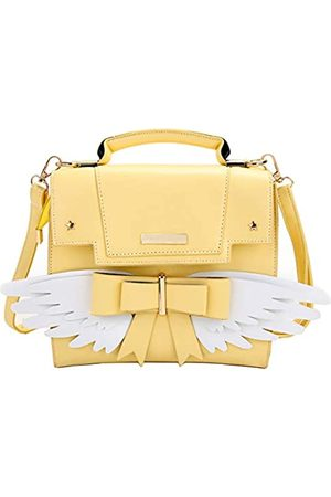 JHVYF Womens Casual Backpack PU Leather Purses Teenager Girls Fashion Daypack Cute School Satchel Bag Yellow