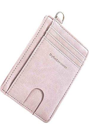 Bybetermon Herren Taschen - Dünne Geldbörse, doppelter RFID-blockierender Kreditkartenhalter, minimalistisches Leder