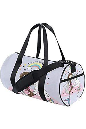 Yuihome Herren Reisetaschen - Seesack mit Meerjungfrauen-Schuppen, Segeltuch, Reisetasche für Fitnessstudio