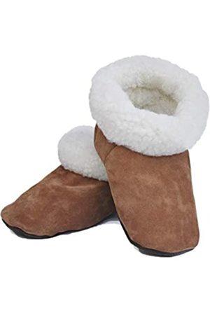 Rupestre Hausschuhe - handgefertigt mit natürlicher Schafwolle und Leder - Premium Mehrzweckschuhe perfekt für Zuhause - hypoallergene Winterschuhe - ideal für Damen und Herren - Größe 4,5 bis 13