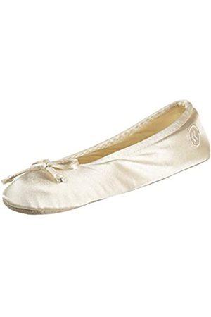 Isotoner Damen Satin Ballerina Slippers Hausschuh