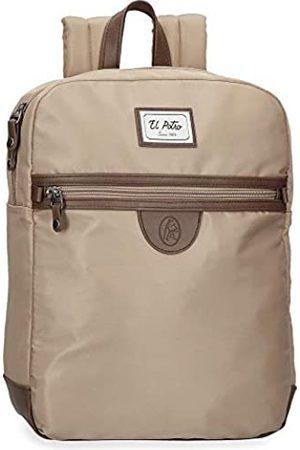El Potro Pipe Laptop-Rucksack Braun 26x35x10 cms Polyester 13