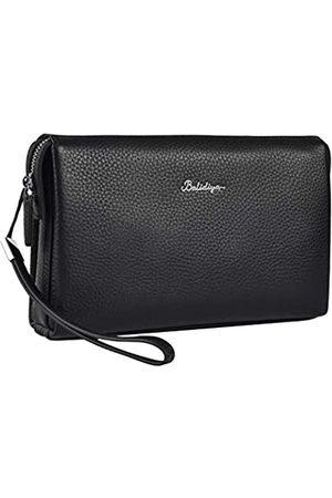 Balidiya Herren Handtaschen - Herren-Clutch-Tasche aus echtem Leder für Visitenkarten