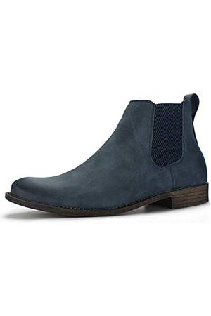 Hawkwell Herren Chelsea Boots - Herren Kleid Casual Chelsea Boot Chukka Stiefeletten, Blau (marineblau)
