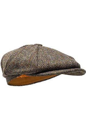 Borges & Scott Lomond Schirmmütze Newsboy – Schiebermütze aus 100% handgewebter Wolle - Harris Tweed - wasserabweisend - 60cm