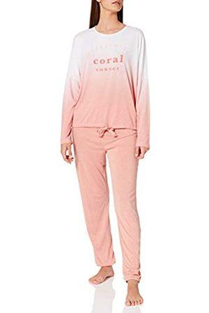 Women secret Damen Schlafanzüge - Damen Pijama Largo Soft Zweiteiliger Schlafanzug