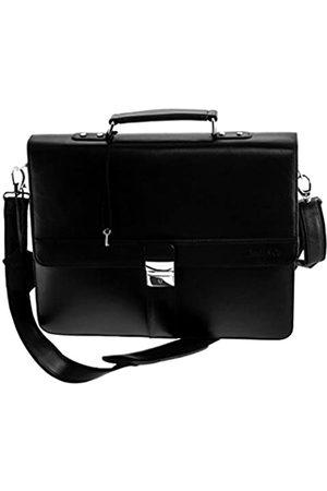 Boudier & Cie Und Cie Businesstasche Tasche für Herren Männer Aktentasche mit Schultergurt und Tragegriff aus Leder in Laptoptasche Business Bag BBG3