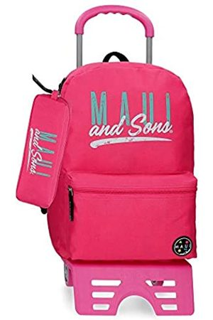 Maui & Sons Taschen - Maui and Sons Hawai Rucksack mit Trolley + Schulmäppchen 32x42x16 cms Polyester 15.6L