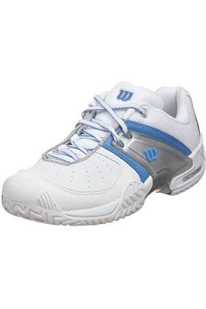 Wilson Women's Trance All-Court Tennis Shoe,White/Blue