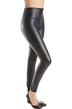 Lysse Women's Plus Size Vegan Leather Legging, Black