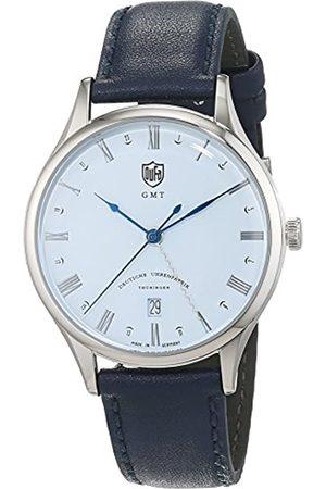 DUFA Unisex Analog Quarz Uhr mit Leder Armband DF-9006-06