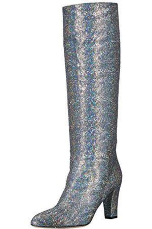 Sjp Damen Studio Knee High Mandel Toe Boots, Silber (Scintillate)