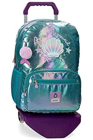 Enso Herren Laptop- & Aktentaschen - Be a Mermaid Laptop-Rucksack mit Trolley für die Schule 32x42x14 cms Polyester 15