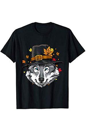 Wowsome! Thanksgiving Wolf Pilgrim Costume Men Women T-Shirt
