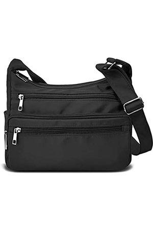 VOLGANIK ROCK Damen Umhängetaschen - Crossbody Bag for Women Waterproof Messenger Shoulder Bag Casual Nylon Purse Handbag Multi Pocket Lightweight Travel Bag