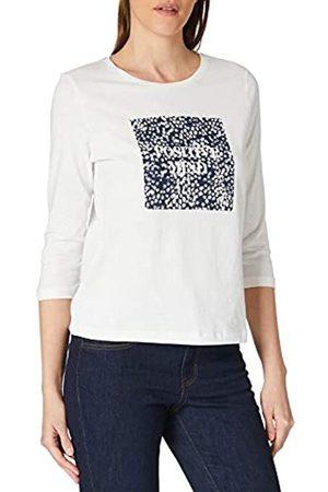 TOM TAILOR Damen Longsleeves - Damen 1023999 Print Longsleeve T-Shirt, 10315-Whisper White
