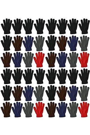 Winterlace Herren Handschuhe - 48 Paar Winter Magic Handschuhe, warm, gebürstete Innenseite, dehnbar, sortiert