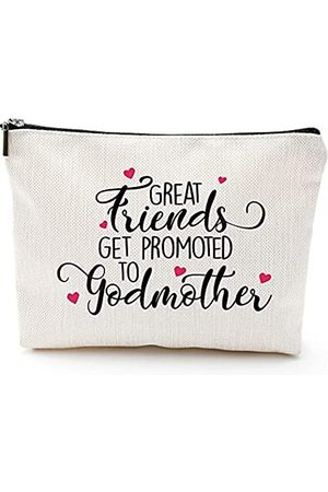 """Blue Leaves Geschenk für Patentante, Aufschrift """"The Best Friends Get Promoted to Godmother"""", Geschenk für die Schwangerschaft und die Ankündigung der Patentante, Geschenk für Patenkind"""