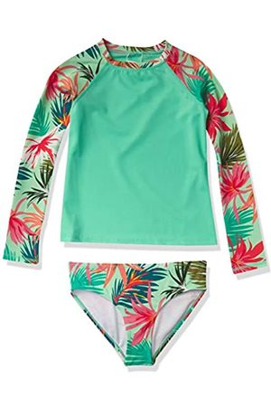 Kanu Surf Girls' Long Sleeve Rashguard Two Piece Swim Set