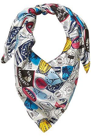 Karl Lagerfeld Damen Schals - Paris Damen Stamp 100% Silk Twill Big Square Scarf Schal für kaltes Wetter