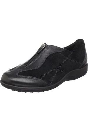 Walking Cradles Damen April Slip-On Loafer, (Schwarzes Wildleder)