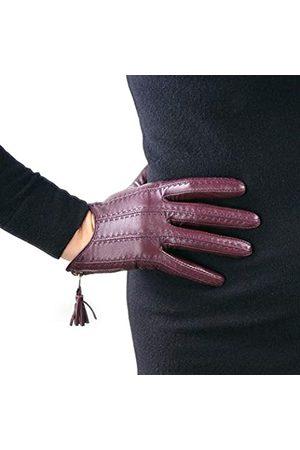 DooWay Handschuhe, kurz, Echtleder, mit Reißverschluss, für Damen, importierte Ziegenfell-Optik