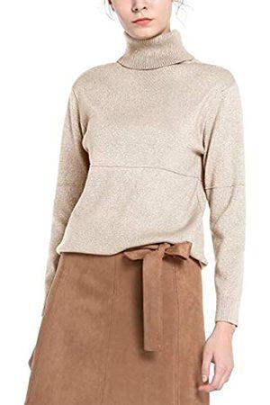 Apart Damen Strickpullover - APART klassischer Damen Pullover aus weichem Strick mit Kaschmir-Anteil und Rippbündchen, metallisch glänzend