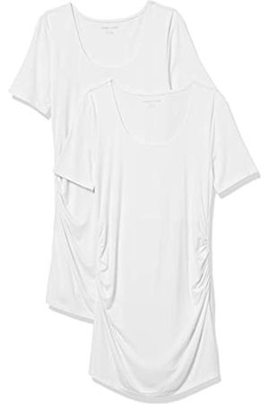 Amazon Maternity 2-Pack Short-Sleeve Rouched Scoopneck T-Shirt M