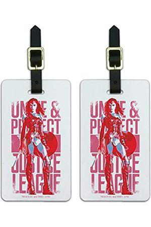 Graphics and More JLA Movie Wonder Woman Unite & Protect Gepäckanhänger 2 Stück