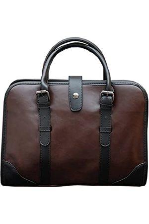 Berchirly Büro Tote Bag Aktentasche Herren Vintage PU Leder Business Taschen Handtasche