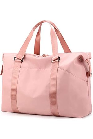 PlasMaller Sporttasche Reisetasche mit Tasche für trockene Nass- und Schuhfach für Damen und Herren (Pink) - LICHUBD-05-02