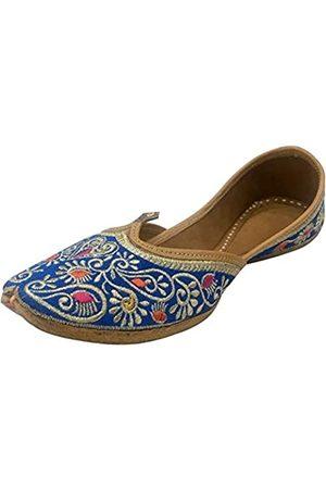 Step N Style Damen Schuhe - Handgefertigte Jutti Khussa Schuhe Indische Pakistanische Schuhe Ethnische Flache Schuhe