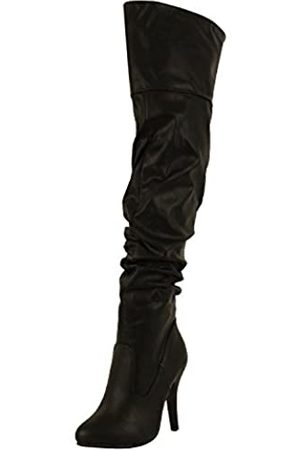 FOREVER Damen Overknees - Link Focus-33 Women's Fashion Stylish Pull On Over Knee High Sexy Boots