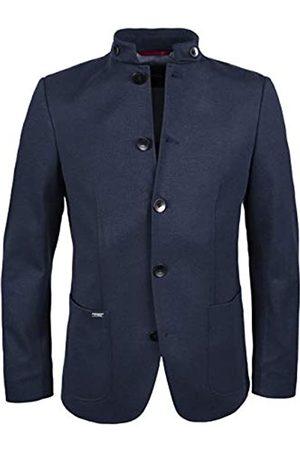 Roy Robson Herren Jersey Sakko aus Viskose Stehkragen-Slim Fit Business-Anzug Jacke
