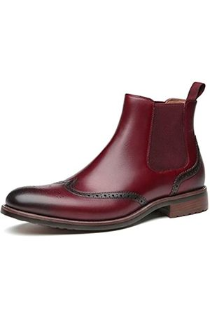 JORDI GIGO Brogue Chelsea Boots Herren – Ankle Leather Dress Boots für Männer, Chukka Casual Boots