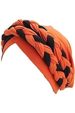 WeMiao Doppelt geflochtene Turban-Kappe Chemo-Krebsturbanen für Frauen Islamische Gebetsmützen Kopf Wrap Cap - - Einheitsgröße