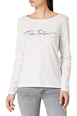 TOM TAILOR Damen 1026222 Striped T-Shirt, 10315-Whisper White