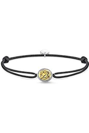 Thomas Sabo Unisex Armband Little Secret Glaube, Liebe, Hoffnung 925 Sterlingsilber, Geschwärzt, 750 Gelbgold Vergoldung