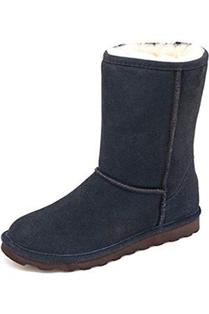 Bearpaw Elle Kurzschaft Stiefel für Damen, exklusive Farben mit Fleckenschutz-Behandlung, Blau (Marineblau/Schokolade)
