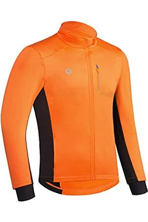 Przewalski Fahrradjacke für Herren Winter Thermo Laufjacke Winddicht Atmungsaktiv Reflektierend Softshell Windbreaker, Herren