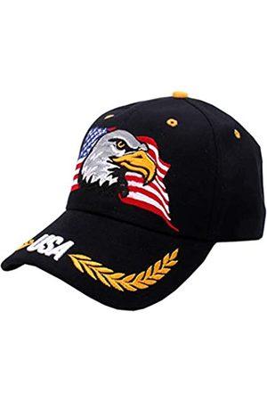 IZUS Herren Caps - USA-Flag Eagles Hat American Baseball Cap bestickt - - Einheitsgröße