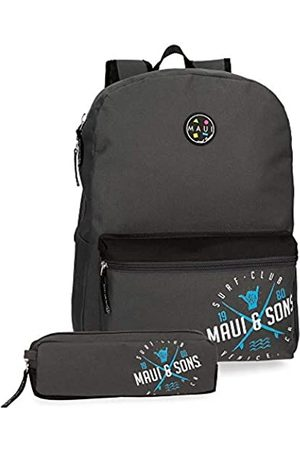 Maui & Sons Maui and Sons Shaka Rucksack + Schul-Bleistiftmappe 32x42x16 cms Polyester 21.5L