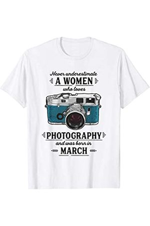 Wowsome! Never Underestimate A Women Who Loves Photography March T-Shirt