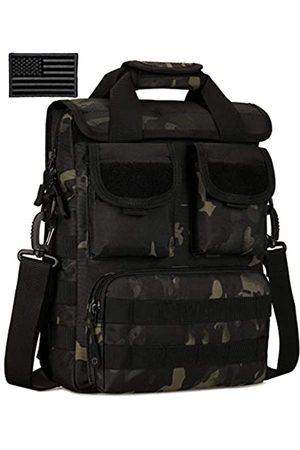 Protector Plus Herren Handtaschen - Taktische Messenger-Tasche für Herren, Militär-Stil, MOLLE-Schultertasche, Aktentasche, Sturmausrüstung, Handtaschen, Outdoor-Nutzung, Tragetasche (Patch enthalten)