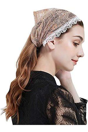 FANFAN Y025 Mantilla Schleier Mass Stirnband Kopftuch Krawatte Kopf Abdeckung Kirche Schleier - - Einheitsgröße
